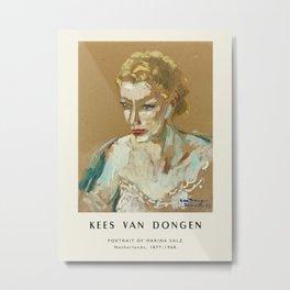 Poster-Kees van Dongen-Portrait of Marina Salz. Metal Print