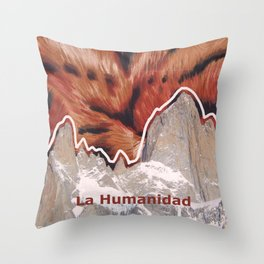 Coexistence - mountains, animals and human beings- patagonia Throw Pillow