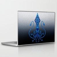 squid Laptop & iPad Skins featuring Squid by Bahadır Tez