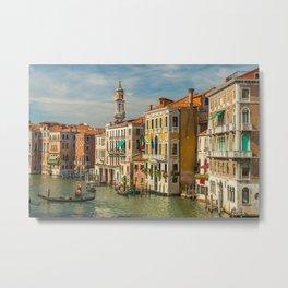 Canal Grande, Venice, Italy Metal Print