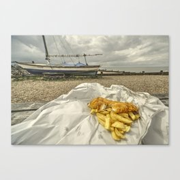 Chish n Fips  Canvas Print