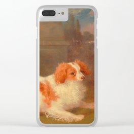 dog painting Blenheim spaniel Clear iPhone Case