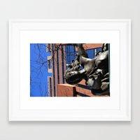 portlandia Framed Art Prints featuring Portlandia Statue by Flora & Fauna