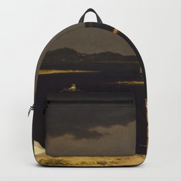 Approaching Thunder Storm Painting By Martin Johnson Heade Backpack