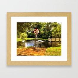 Farm Abstract Framed Art Print