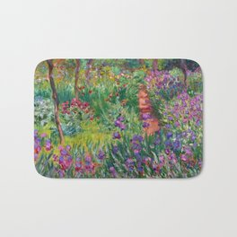 "Claude Monet ""The iris garden at Giverny"", 1900 Bath Mat"