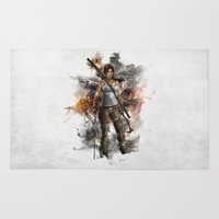 tomb raider Area & Throw Rugs featuring Tomb Raider Reborn... by 187designz