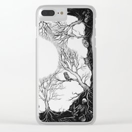 The last person in the world Clear iPhone Case
