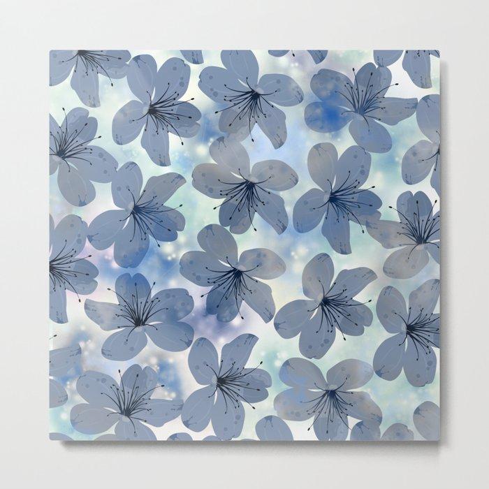 Floral Pattern C Metal Print