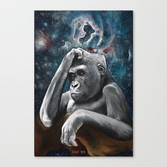 Gorilla in the Universe Canvas Print