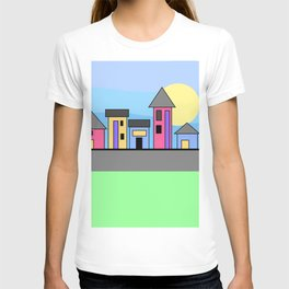 Pastel Daytime Houses T-shirt
