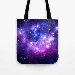 Purple Blue Galaxy Nebula Tote Bag