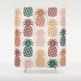 Retro Mid Century Modern Pineapple Pattern 477 Shower Curtain