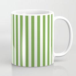CVS0076 Avocado Green and White Stripes Pattern Coffee Mug