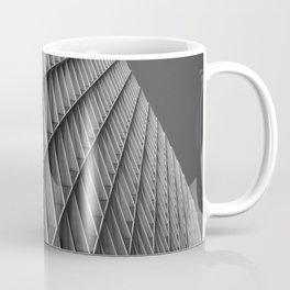 Abstract City Urban Architecture Geometric Pittsburgh Black And White Print Coffee Mug