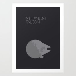 Star, Rogue One, Milleniun Falcon Art Print