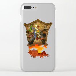 Little Quester The Herbal Man Clear iPhone Case