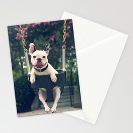 Frenchie Swings Stationery Cards
