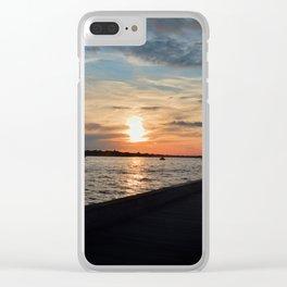 Boardwalk Sunset Clear iPhone Case