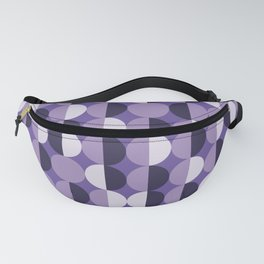 Retro circles grid purple Fanny Pack