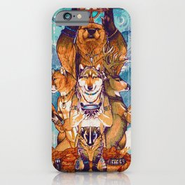 Shaman Animal Totem (Painting) iPhone Case