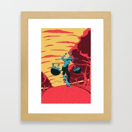 [ LET YOURSELF GO! ] The street seller Framed Art Print