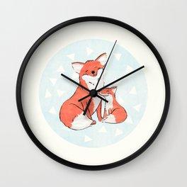 Momma Fox Wall Clock