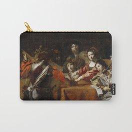 Valentin de Boulogne - The Concert - Renaissance Fine Art Retro Vintage Oil Painting Carry-All Pouch