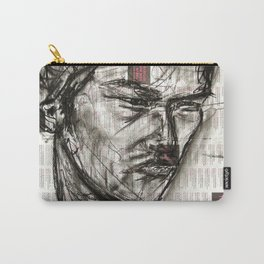 Warrior - Charcoal on Newspaper Figure Drawing Carry-All Pouch