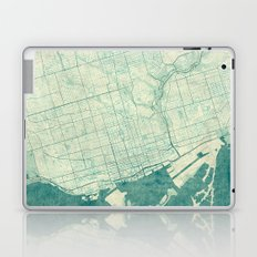 Toronto Map Blue Vintage Laptop & iPad Skin