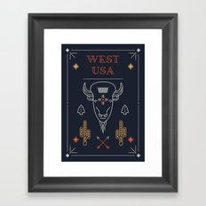 West USA (Navy) Framed Art Print