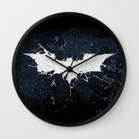 bat man Wall Clocks featuring BAT MAN by Thorin
