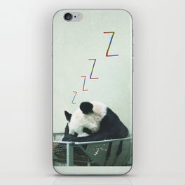 Sleepy Panda iPhone Skin