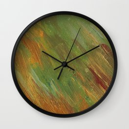Seamless Spring Acrylic Pattern Wall Clock