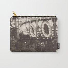 Fuzzy Carousel - B&W Carry-All Pouch