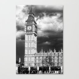 Storm Clouds Gather over Big Ben and the Houses of Parliament Canvas Print