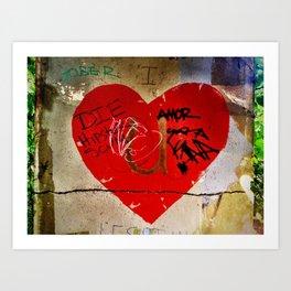 Graffiti Heart Art Print