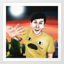 Phil in Ooo Art Print