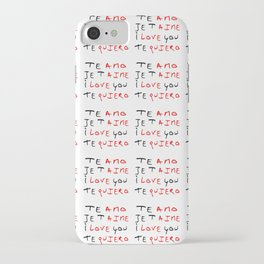 Je t'aime 5-te amo,je 'aime,I love you, te quiero,love,girl,romantic,romantism,women,heart,sweet,fun iPhone Case