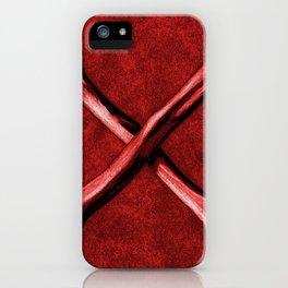 Red Cross Bones, Grungy Anatomy Tattoo style iPhone Case