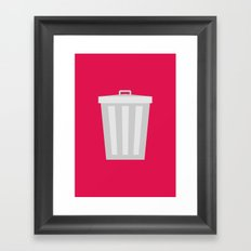 #57 Trashcan Framed Art Print