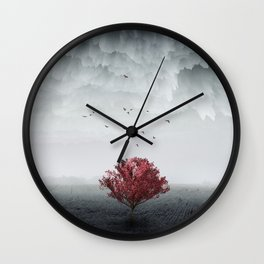 the RED tree ll Wall Clock