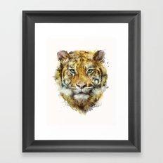 Tiger // Strength Framed Art Print