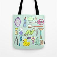 bath Tote Bags featuring Bath by Lera Efremova