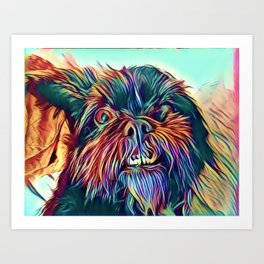 The GRIFFON from our POP YOUR POOCH line Art Print