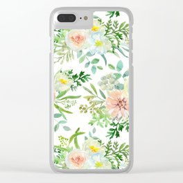 Green melody pattern Clear iPhone Case