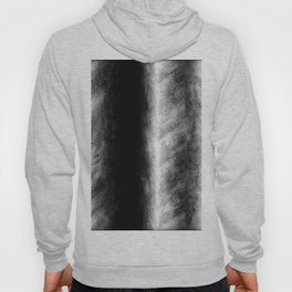 Black and White Stripes in Silk Hoody