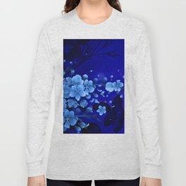 Cherry blossom, blue colors Long Sleeve T-shirt