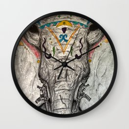 Maimed & Taimed Wall Clock