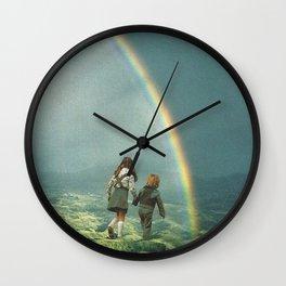 Rainbow of hope Wall Clock